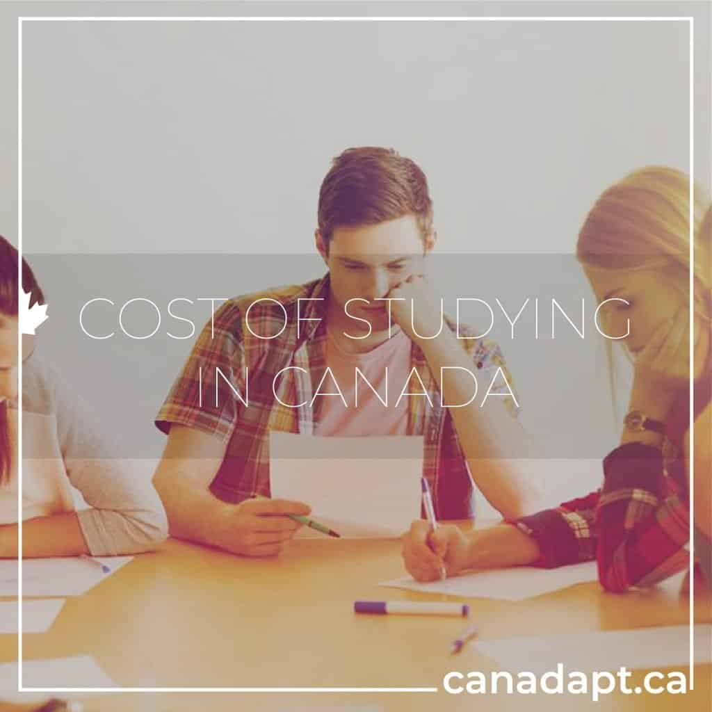 cost of studying in Canada